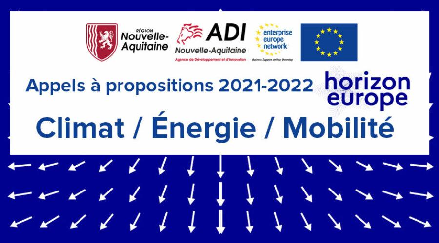 Enquête sur l'intérêt des acteurs régionaux pour les appels à projets européens Énergie, Climat, Mobilité